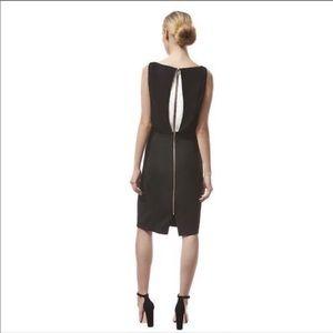 Veronica Beard Black White Shift Dress 6 S Small